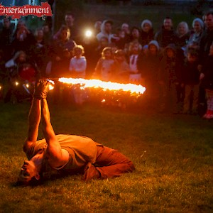 woodland fire show hire uk