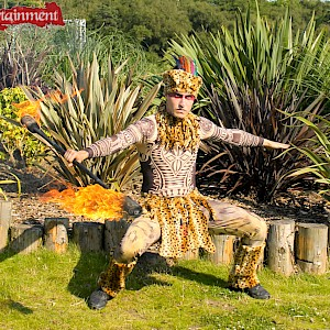 tribal fire performer