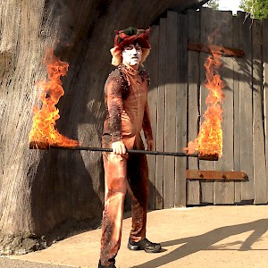 woodland fire performer