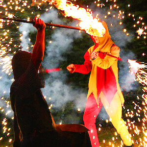 medieval fire show hire uk