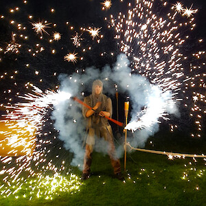 medieval fire performer hire uk