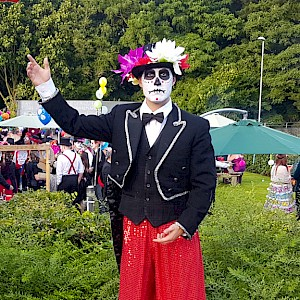 day of the dead stilt walkers hire uk