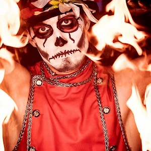 hire day of the dead fire show