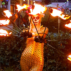 day of the dead fire show uk