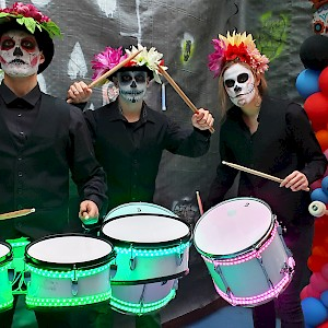 day of the dead LED drummers uk