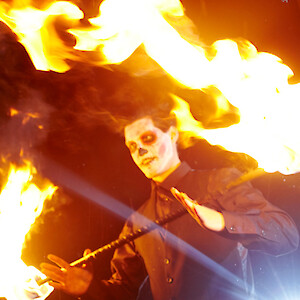 day of the dead fire show hire