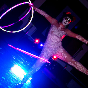day of the dead hula hoop show hire