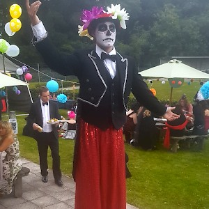 Day of the Dead stilt walker hire uk