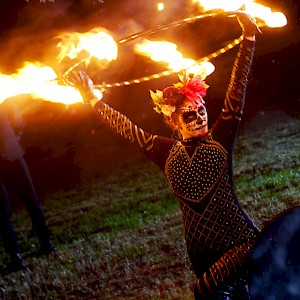 day of the dead fire performer hire uk