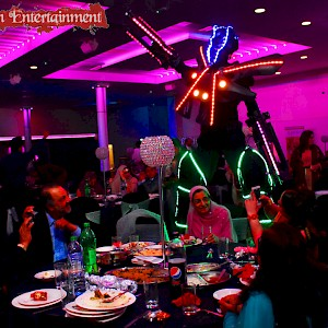 asian wedding dancing robot hire uk