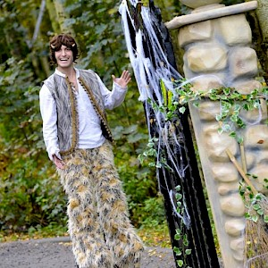 mr tumnus narnia stilt walker hire uk