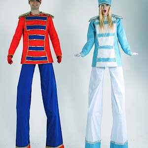 Nutcracker toy soldier stilt walkers uk