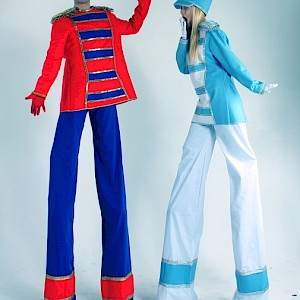 Nutcracker toy soldier stilt walkers