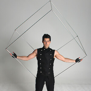 spinning cube show hire uk