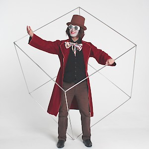spinning cube performer uk