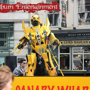 Bumblebee from Transformers hire uk