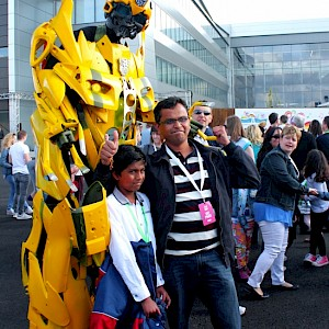 real transformer robot hire uk