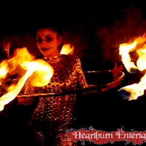 fire hula hoop performer hire uk