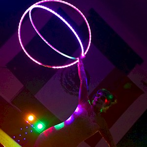 LED hula hoop act hire uk