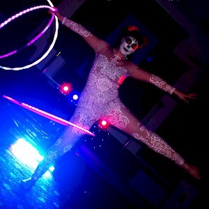LED hula hopo dancer hire uk