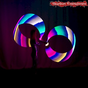 glow hula hoop show hire uk