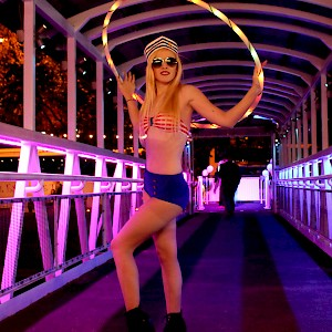 LED hula hoop show hire uk