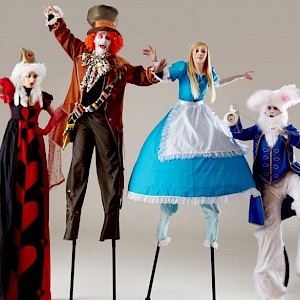 world book day stilt walkers