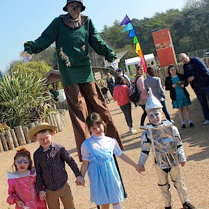 world book day themed stilt walkers hire uk