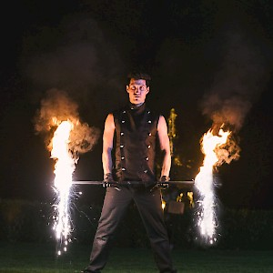 indian wedding fire show hire