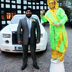 hire indian wedding human statue