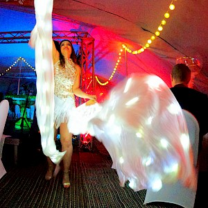 winter wonderland LED dancer hire uk