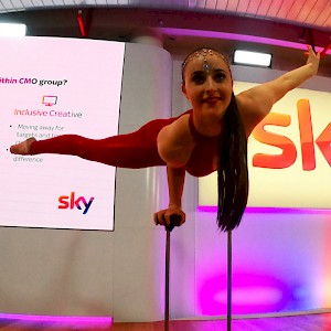 greatest showman acrobat hire uk