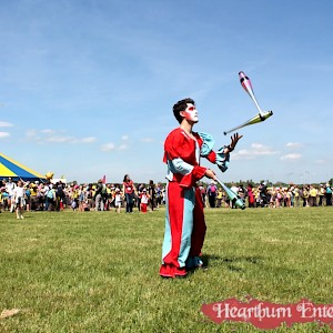 greatest showman juggler hire uk