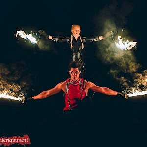 festival themed fire show