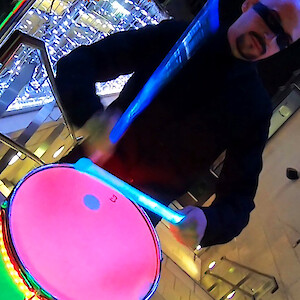 LED drummers hire ireland
