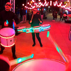 london LED drummers