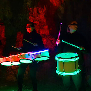 hire LED drummers london