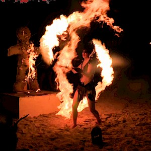 tribal party fire show