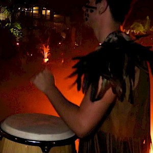 tribal party drummer hire
