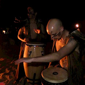 hire tribal drummers