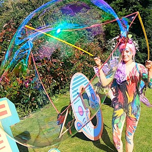 hire big bubble performers show manchester